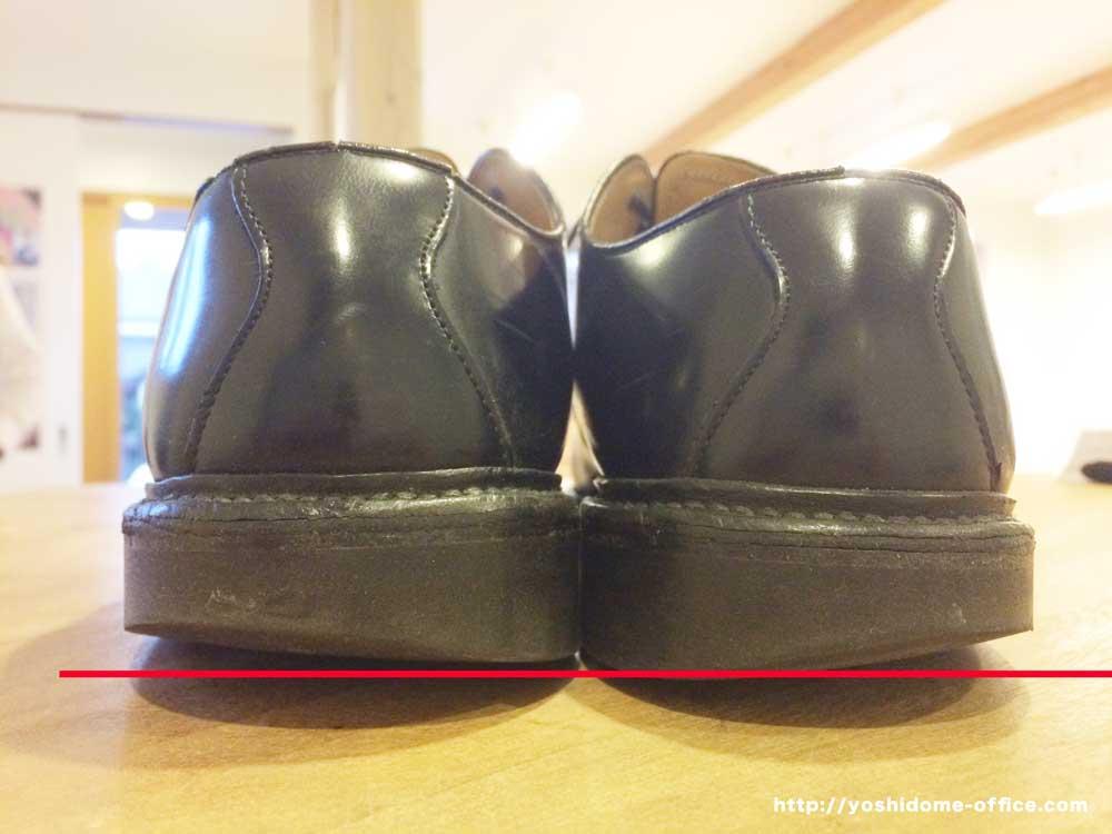 靴を見ると身体のゆがみが分かります